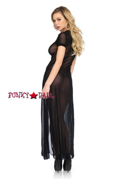 LA86400, Sheer Mesh Slit Dress