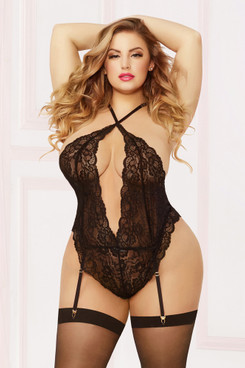 STM-10857X, Galloon Lace Teddy