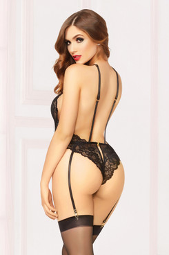 STM-10857, Galloon Lace Teddy