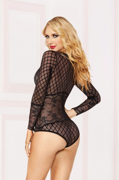 STM-10871, Geo Mesh Long Sleeved Teddy