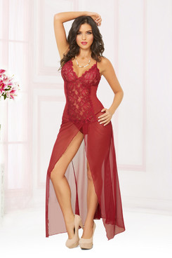 STM-10904, Mesh Long Gown
