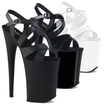 Infinity-997, 9 Inch Criss Cross Platform Sandal by Pleaser