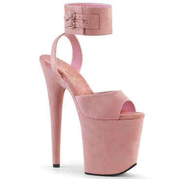 Flamingo-891, Pink Faux Suede by Pleaser Shoes