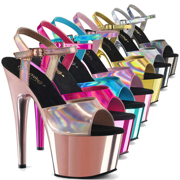 Chrome Pole Dancing Heels  Adore-709HGCH by Pleaser