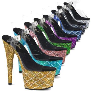 Exotic Dancer Glitter Mermaid Scale Sandal Adore-708MSLG by Pleaser