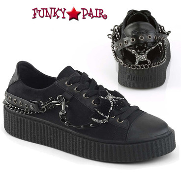 Demonia | Sneeker-112, Men's Interchangeable Metal Chains Creeper