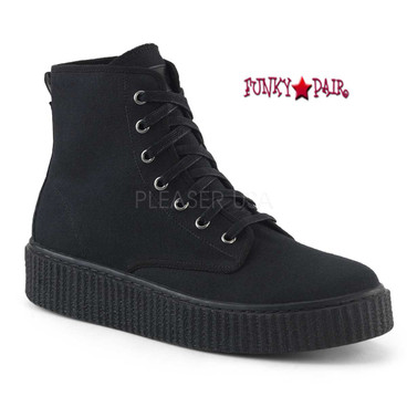 Demonia | Sneeker-201, Men's Creeper with High Top