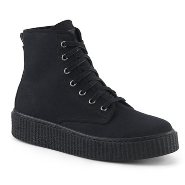 Sneeker-201, 1.5 Inch Platform Creeper Sneaker with High Top