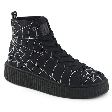 Creeper Sneaker with Web Detail Sneeker-250, Demonia