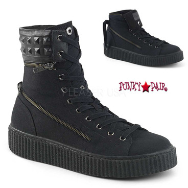 Demonia | Men Sneeker-270, Convertible High Top Creeper