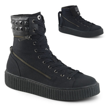 Sneeker-270, 1.5 Inch Platform Creeper Sneaker with Removable Padded Collar Demonia Men's
