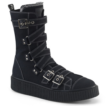 Men's Creeper Sneaker Midcalf with Zig-Zag Straps by Demonia Sneeker-318
