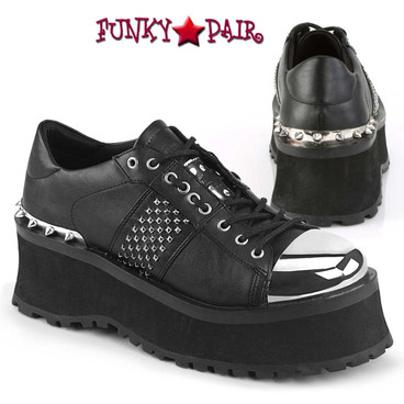 Men's Demonia Gravedigger-02, Punk Goth Oxford Shoes