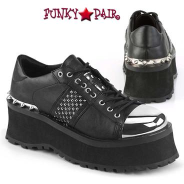 Men's Demonia Gravedigger-02, Punk Goth Oxford Shoes