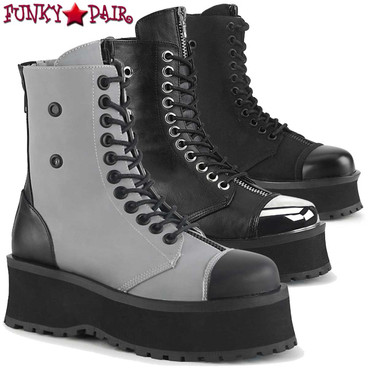 Demonia | Gravedigger-10 Men's Goth Platform Lace-up Ankle Boots