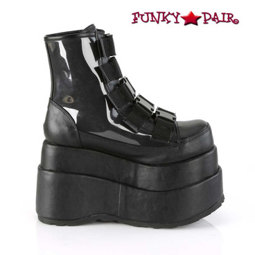 Women Demonia Bear-105, Spider Platform Ankle Boots inner side view