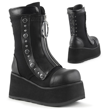 Clash-206, Wedge Mid Calf Boots Women's Demonia