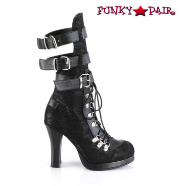 Crypto-61, Open Calf Boots Women's Demonia side view