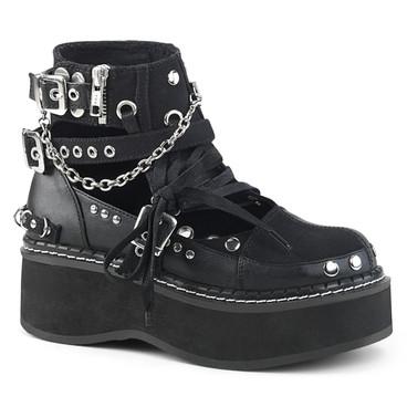 Buckle Strap Goth Punk Ankle Bootie Women Demonia Emily-317,