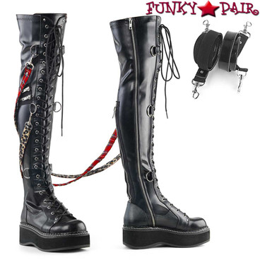 Demonia Emily-377, Platform Over-the-Knee Boots