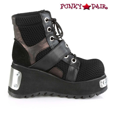 Scene-53, 3.5 Inch Ankle Boots with Buckle side view