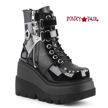 Demonia Shaker-57, Wedge Ankle Boots
