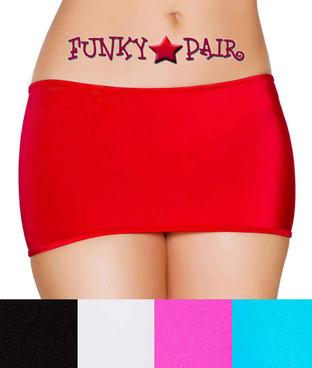 Rave Dancer Short Mini Skirt | Roma R-SK106 Color Available: Red, Hot Pink, Turquoise, Black, White