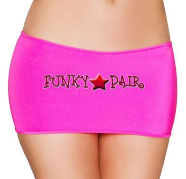 Rave Dancer Hot Pink Short Mini Skirt | Roma R-SK106