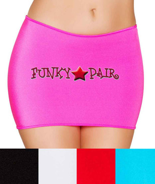 Rave Dancer Mini Skirt | Roma R- SK105 Color available: Hot Pink, Black, Turquoise, White, Red