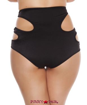 R-SH3228 - Cutout High Waisted Shorts