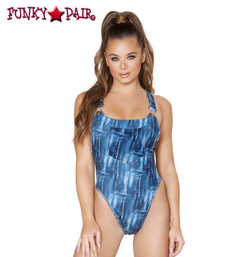 Rave Overall Romper | Roma R-3551 color Blue front view
