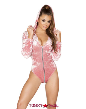 Roma | R- 3576, Rave Velvet Hooded Bodysuit