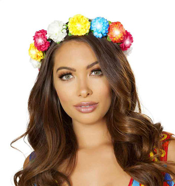 R-4888, Floral Light-up Headband