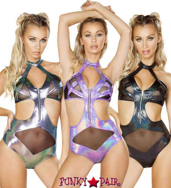 Roma | R-3542, Criss Cross Romper Color available: black, purple, blue