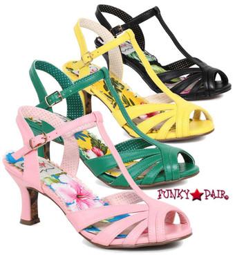BP300-Layla, 3 Inch Peep Toe T-Strap Sandal