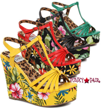 BP475-Mallory, 4 Inch Tiki Wedge @FunkyPair.com