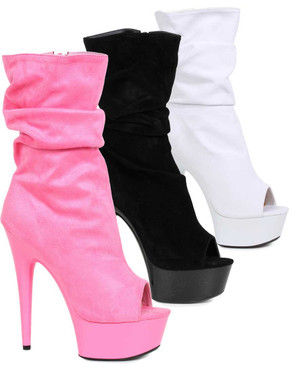 "Ellie Shoes | 609-Scrunch 6"" Scrunch Ankle Boots"