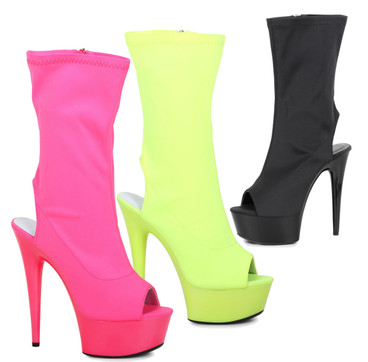 """Exotic Dancer Boots 6"""" Mid-Calf Ankle Boots Ellie Shoes   609-Stacy"""