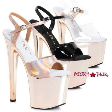 Ellie Shoes   821-Bria, 8 Inch Rose Gold Platform Sandal