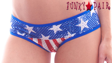 PA181154FG,  Patriotic  Stars and Stripes Panty