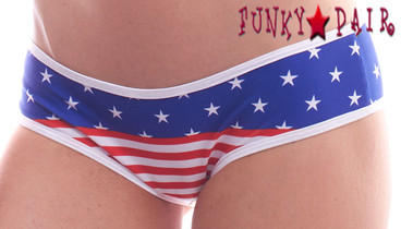 PA181154SS, Patriotic Stripes and Stars Panty