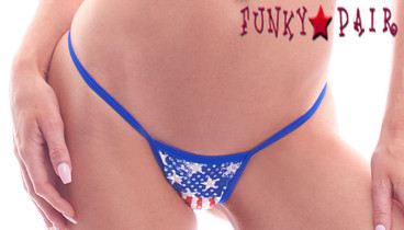 PA181162FG, Patriotic Low Back Thong
