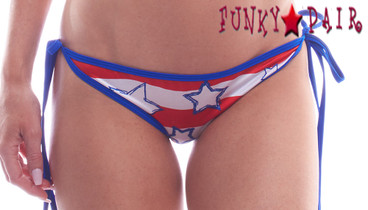 PA181171WG, Patriotic Tie Side Scrunch Stars Bottom