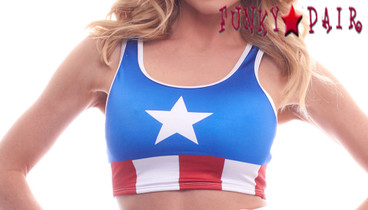 PA181609CA, Patriotic Crop Top