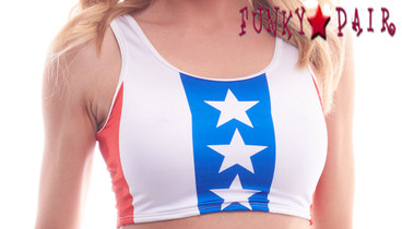 PA181609PS, Patriotic Prideful Stripes Crop Top