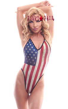 PA181822MA, Patriotic High Hip Bodysuit