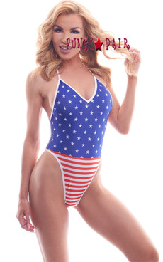 PA181822SS, Patriotic Stars & Stripes Bodysuit