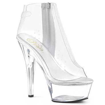 Clear Ankle Boots Kiss-1023 Pleaser Boots