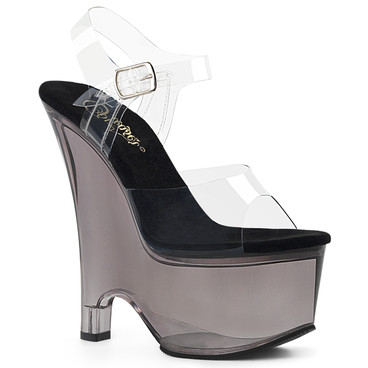 Pleaser Shoes | Beau-608T, Tinted Wedge Platform Sandal