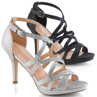 "Fabulicious | Daphne-42, 4"" Heel Strappy Dress Sandal"